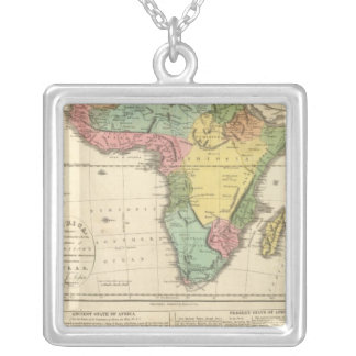 Africa Atlas Map 2 Silver Plated Necklace