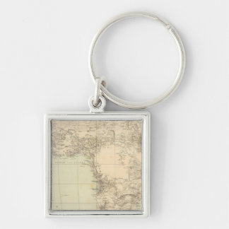 Africa Atlas Map showing colonies Key Chain