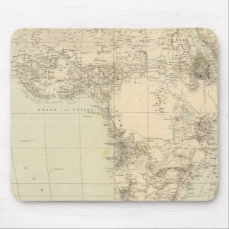 Africa Atlas Map showing colonies Mouse Mat
