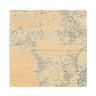 Africa Atlas Map Wood Coaster