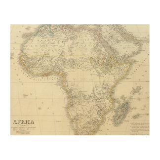 Africa Atlas Map Wood Prints