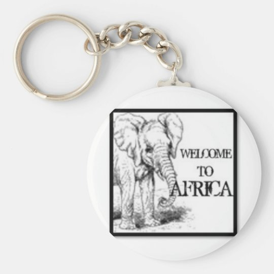Africa Basic Round Button Key Ring