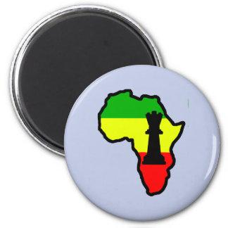 Africa Black Queen Chess Piece 6 Cm Round Magnet