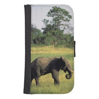 Africa, Botswana, Chobe National Park. Elephant Samsung S4 Wallet Case