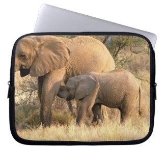 Africa, Botswana, Moremi. Elephant nursing Laptop Sleeve