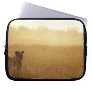 Africa, Botswana, Moremi Game Reserve, Male Lion Laptop Sleeve
