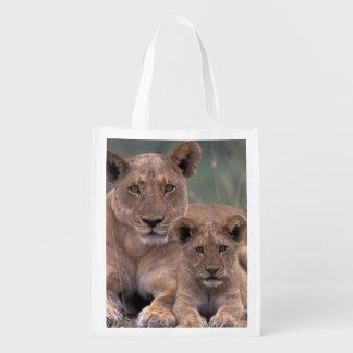 Africa, Botswana, Okavango Delta. Lions Reusable Grocery Bag
