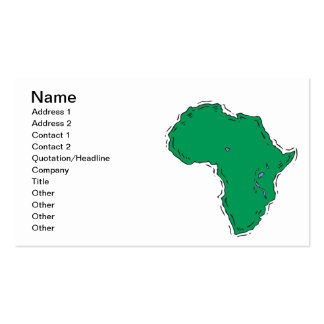 Africa Double-Sided Standard Business Cards (Pack Of 100)