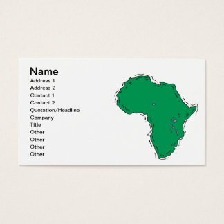 Africa Business Card