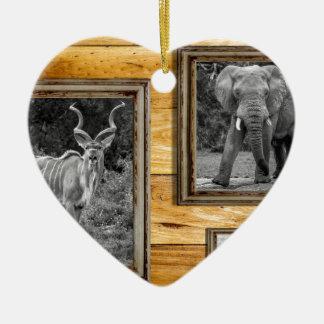 Africa. Ceramic Heart Decoration