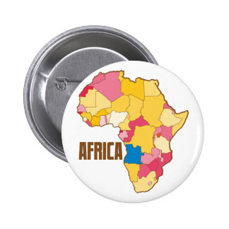 AFRICA colour map nation 6 Cm Round Badge