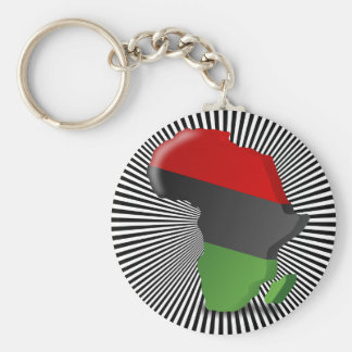 Africa Continent Basic Round Button Key Ring