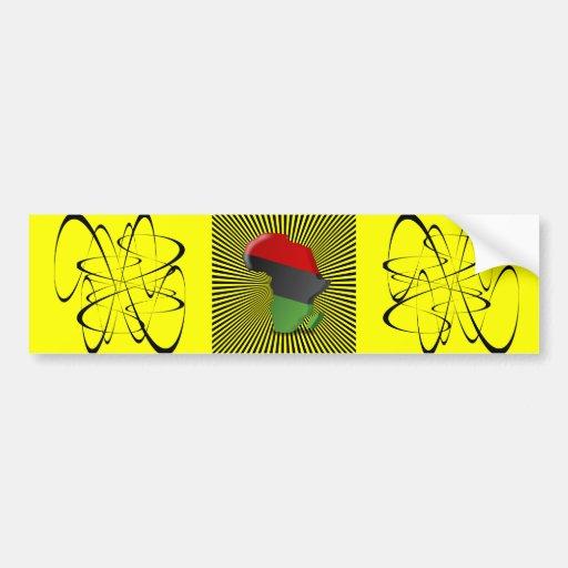 Africa Continent Bumper Stickers