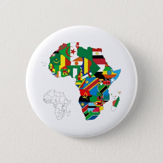Africa Continent Flag Map 6 Cm Round Badge
