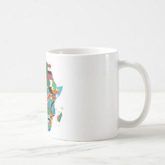 Africa Continent Flag Map Coffee Mug