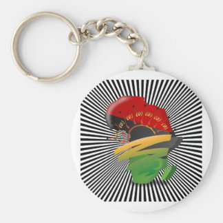 Africa Continent Keychains