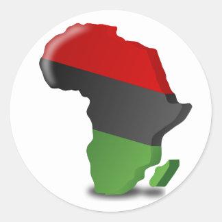 Africa Continent Round Sticker