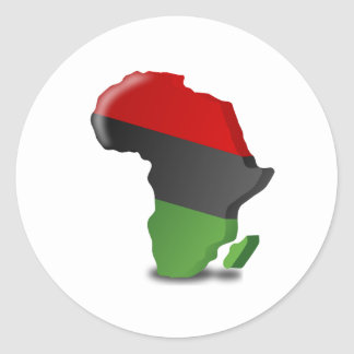 Africa Continent Round Stickers