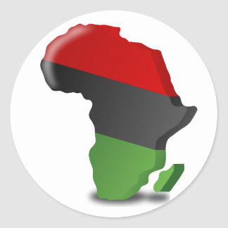 Africa Continent Stickers