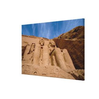 Africa, Egypt, Abu Simbel, Ramses II and Canvas Print