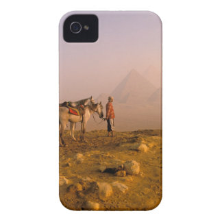 Africa, Egypt, Cairo, Giza. Giza pyramids at Case-Mate iPhone 4 Case