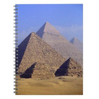 Africa, Egypt, Cairo, Giza. Great pyramids Notebook