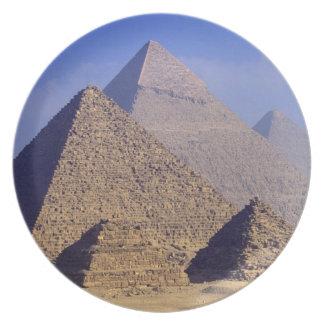 Africa, Egypt, Cairo, Giza. Great pyramids Plate