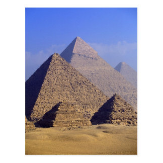 Africa, Egypt, Cairo, Giza. Great pyramids Postcard
