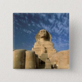 Africa, Egypt, Cairo, Giza Plateau. Sphinx 15 Cm Square Badge