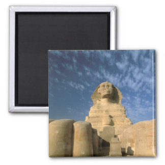 Africa, Egypt, Cairo, Giza Plateau. Sphinx Square Magnet