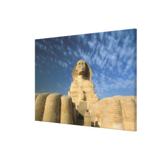 Africa, Egypt, Cairo, Giza Plateau. Sphinx Stretched Canvas Print
