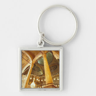 AFRICA, Egypt, Cairo, Muhammad Ali Mosque Silver-Colored Square Key Ring