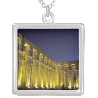 Africa, Egypt, Luxor. Sun court of Amenhotep Silver Plated Necklace