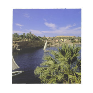 Africa, Egypt, Upper Egypt, Aswan. Feluccas 2 Notepad