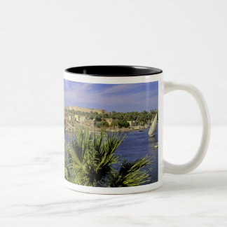Africa, Egypt, Upper Egypt, Aswan. Feluccas 2 Two-Tone Coffee Mug