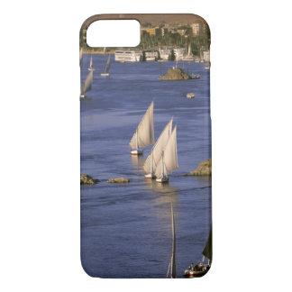 Africa, Egypt, Upper Egypt, Aswan. Feluccas iPhone 7 Case