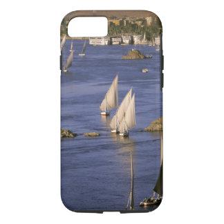 Africa, Egypt, Upper Egypt, Aswan. Feluccas iPhone 8/7 Case