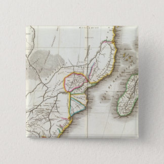 Africa Engraved map 15 Cm Square Badge