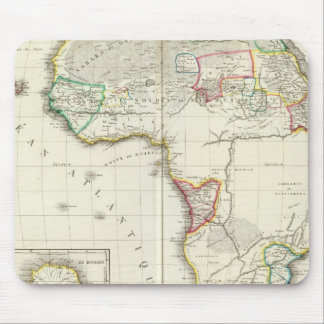 Africa Engraved map with 2 inset maps Mouse Mat