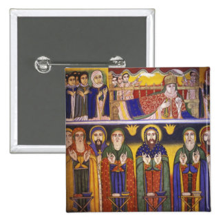 Africa, Ethiopia. Artwork depicting apostles and 15 Cm Square Badge