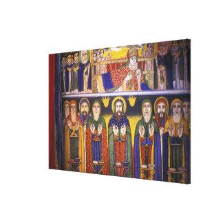 Africa, Ethiopia. Artwork depicting apostles and Canvas Print