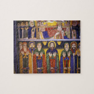 Africa, Ethiopia. Artwork depicting apostles and Jigsaw Puzzle