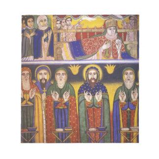 Africa, Ethiopia. Artwork depicting apostles and Notepad