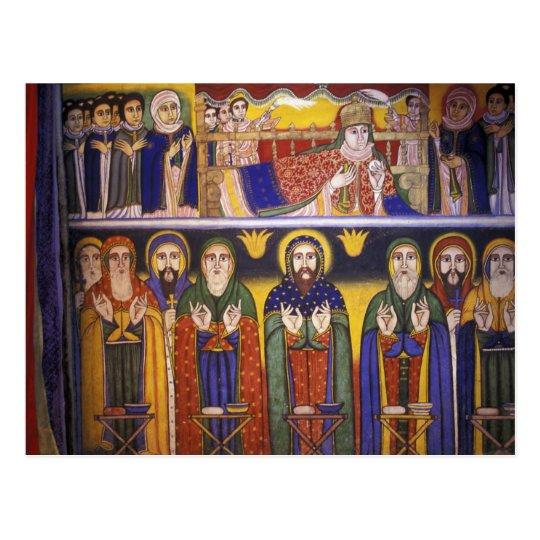 Africa, Ethiopia. Artwork depicting apostles and Postcard