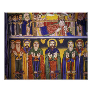 Africa, Ethiopia. Artwork depicting apostles and Poster