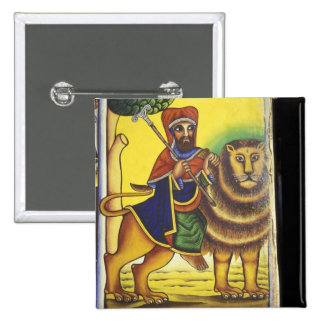 Africa, Ethiopia. Artwork depicting Lion of 15 Cm Square Badge