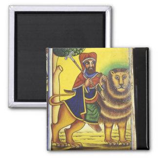 Africa, Ethiopia. Artwork depicting Lion of Magnet
