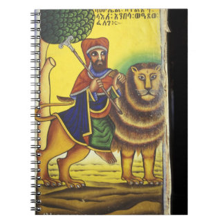 Africa, Ethiopia. Artwork depicting Lion of Spiral Note Books