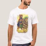 Africa, Ethiopia. Artwork depicting Lion of T-Shirt