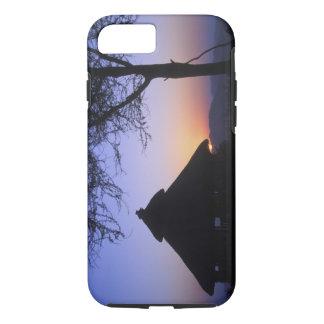 Africa, Ethiopia, Omo river region, Sunset over iPhone 8/7 Case